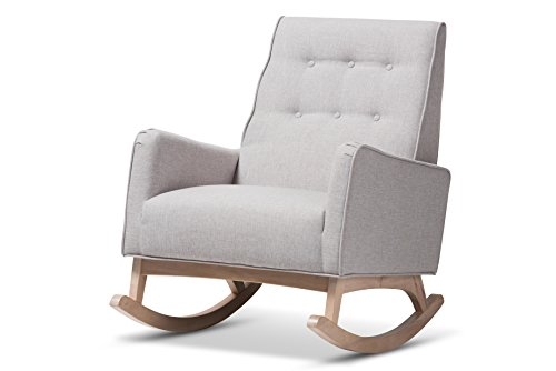 Baxton Studio Martine Rocking chair, Greyish Beige