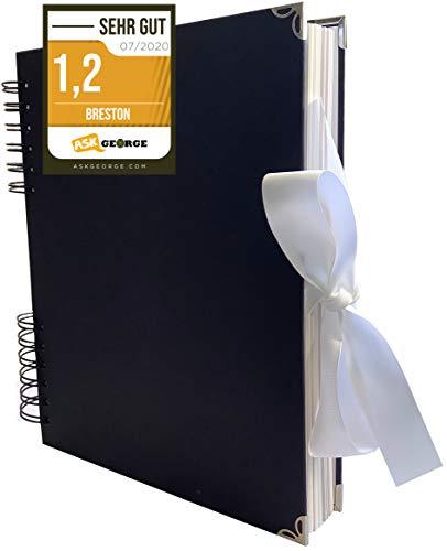 Premium Gästebuch I Fotoalbum Weiße Seiten I 80 Seiten für Fotos I Hochwertiges Scrapbook zum...