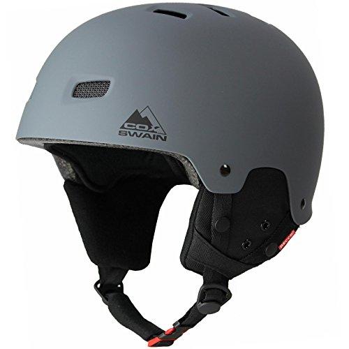 Cox Swain Ski-/Snowboard Helm Tiger - mit Recco Lawinenreflektor, Colour: Grey, Size: 58-61cm