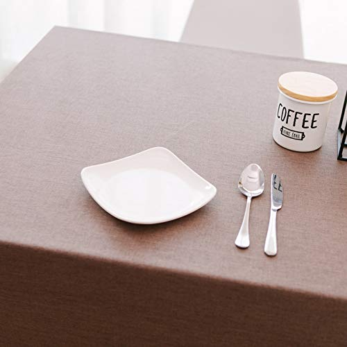 DJUX Restaurante de café de Lino Mantel de algodón y Lino Mesa de Centro Mantel Rectangular de Color Liso Liso Mantel antiescarcha 120x160cm