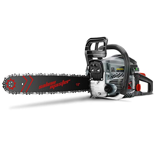 SALEM MASTER 6220F 62CC 2-Cycle Gas Powered Chainsaw, 18-Inch Chainsaw, Handheld Cordless Petrol Gasoline Chain Saw for Farm, Garden,Ranch