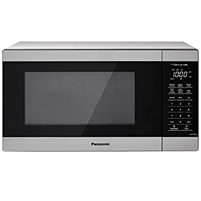 Panasonic NN-SU66LS Countertop Microwave Oven, 1100W with Genius Sensor Cook and Auto Defrost, 1.3 cft, Stainless Steel (Renewed)