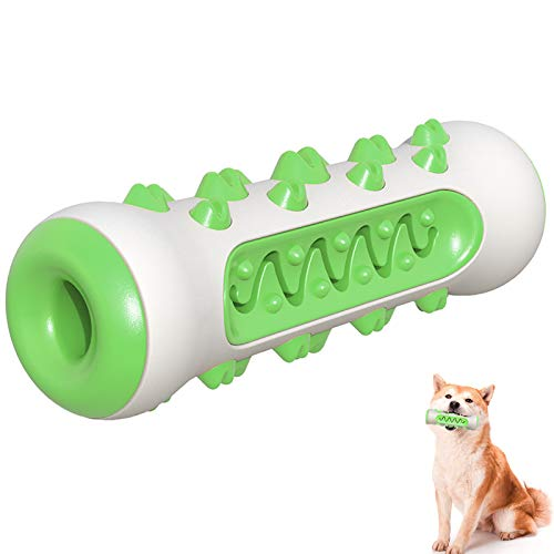 UHKZ Tough Dog Chew Toys for Aggressive Chewers-Nearly Indestructible Non-Toxic Nylon and Natural Durable Rubber Chew Toys Bone for Large Medium Dogs. (Green)