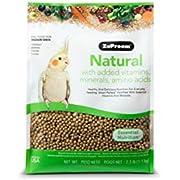 ZuPreem Natural Bird Food Smart Pellets for Medium Birds | Made in USA, Essential Vitamins, Minerals, Amino Acids for Cockatiels, Quakers, Lovebirds, Small Conures (2.5 lb Bag)