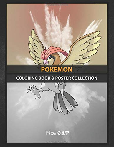 Coloring Book & Poster Collection: Pokemon Pidgeotto Official Artwork Design With His National Pok Anime & Manga