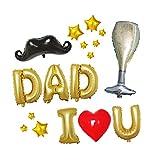 VALICLUD Decorazioni per la Festa del papà Pentagramma Pellicola in Alluminio Palloncini Lettere Palloncini Cuore Palloncini a Forma di Baffi Forniture per Feste a casa Decorazioni Regalo