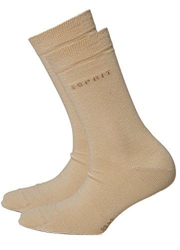 Esprit Unisex Socken Set 2 Paar Uni Socken 2 Pack - Farbauswahl: Farbe: Beige   Größe: 39-42 (Size: 5.5-8 UK)
