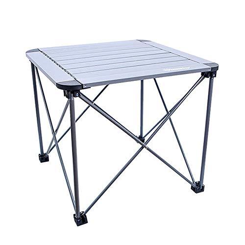 Mesa de picnic plegable, mesa de picnic portátil plegable plegable de placa de aluminio, mesa de picnic de pequeña barbacoa compacta, utilizado para la fiesta de jardín de cocina interior al aire libr