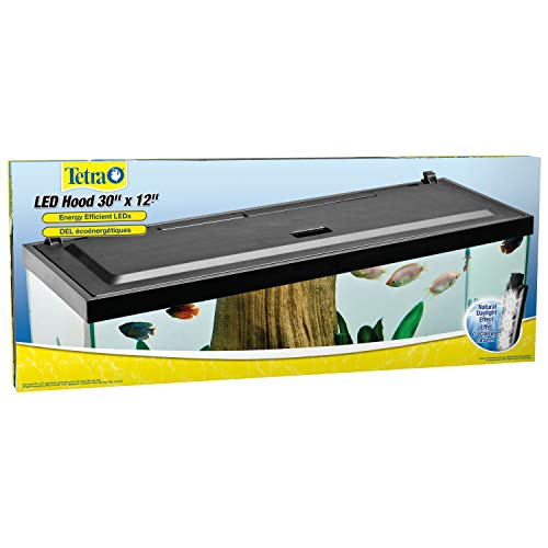 Tetra LED Hood 30 Inches by 12 Inches, Low-Profile Aquarium Hood with Hidden Lighting