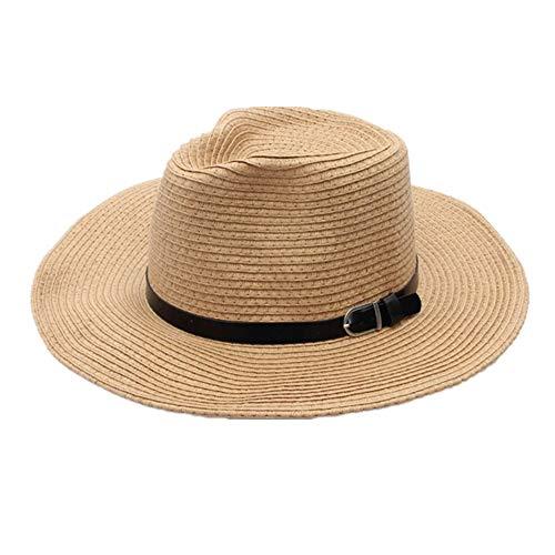Lidylinashop Sommer Hut Damen SommerhüTe Damen Sonnenhut Damen Damen-Strohhüte für Sommer Sommerhüte Für Frauen Breitkrempiger Sonnenhut Damen Damen Strohhut beige,56-58cm