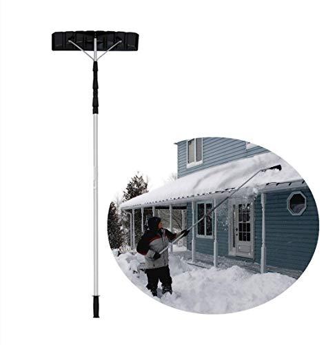 Retirada de la Nieve del Techo de 21 pies de Herramientas con Mango de Techo Herramienta de eliminación de Nieve telescópico Ligero Ajustable Quitar fácilmente la Nieve del Techo |