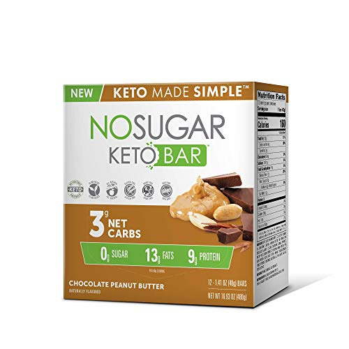 New! No Sugar Keto Bars – Vegan Keto Food Bars, Low Carb/Low Glycemic, 0 grams of Sugar, All Natural, 9g of Plant Based Protein, 13g of Fats per Bar, Only 3g Net Carbs, #LCHF