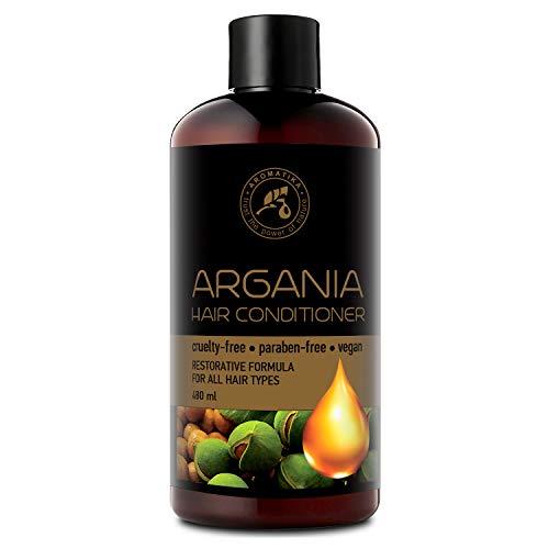 Arganöl Conditioner 480ml mit Naturreinem Arganöl & Olivenöl - Haarspülung für Alle Haartypen - Frei von Farbstoffen & Mineralölen - Argan Haarpflege