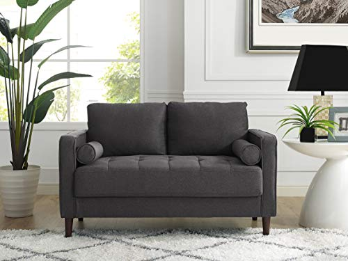 Lifestyle Solutions Lexington Loveseat in Grey, Heather