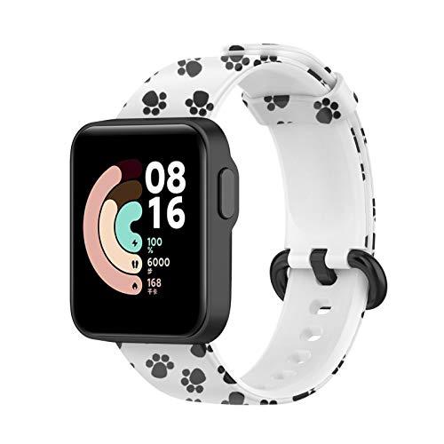 Kompatibel mit Xiaomi Mi Watch Lite und Kompatibel mit Redmi Watch Armband, Sport Ersatzarmband Silikon Atmungsaktiv Uhrenarmbänder Universal Printing Uhrenarmband (B)