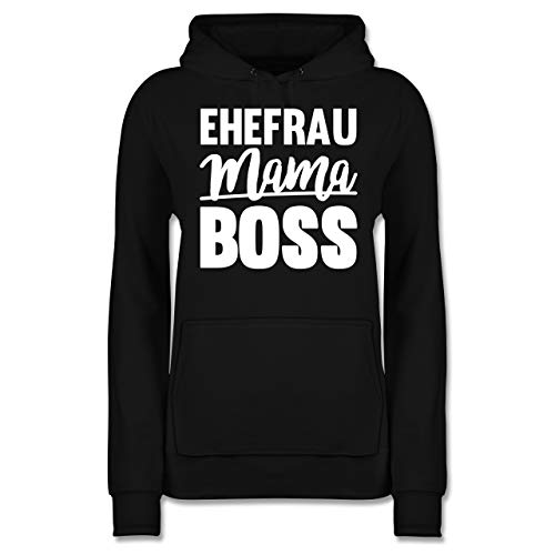 Muttertagsgeschenk - Ehefrau - Mama - BOSS - M - Schwarz - die Aller Beste Frau Pulli - JH001F - Damen Hoodie und Kapuzenpullover für Frauen
