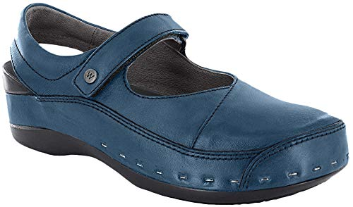 Wolky Strap-Cloggy Blue 37 (US Women's 5.5-6)