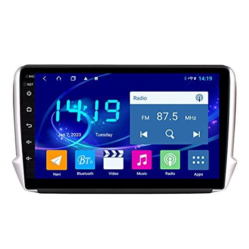 Navegación GPS para coche, IPS 4G + 64G Android 10 reproductor Multimedia GPS para coche para Peugeot 2008208 2014-2018, reproductor Multimedia Auto Radio estéreo, mapa sin conexión
