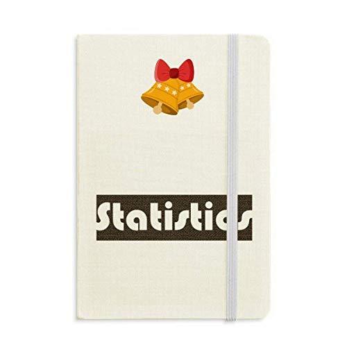 Curso Y Estadísticas Principales Negro Cuaderno Diario mas Jingling Bell