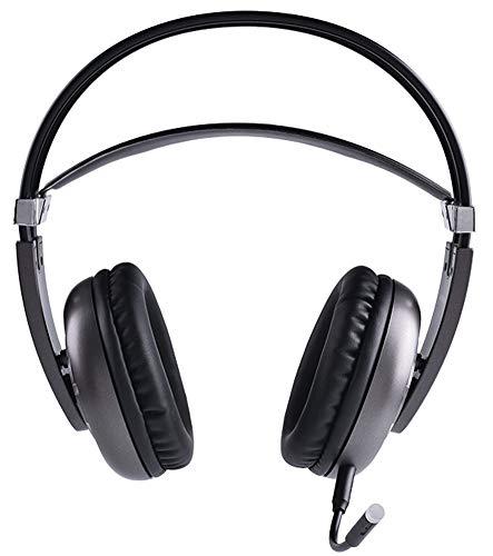 LAOSHIPAI Micro-Casque sans Fil HD avec Microphone Casque de Jeu 7.1 Subwoofer-Black