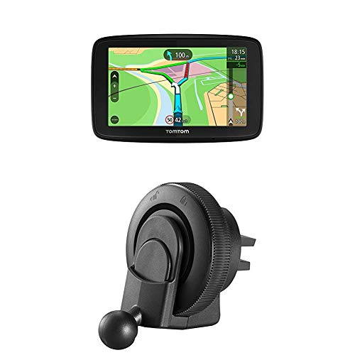 TomTom Via 53 EU-Traffic Navigationsgerät (13cm (5 Zoll), Updates über Wi-Fi, Smartphone-Benachrichtigungen) + Lüftungsschlitzhalterung (geeignet für TomTom Start, Via und GO Basic Navigationsgeräte)