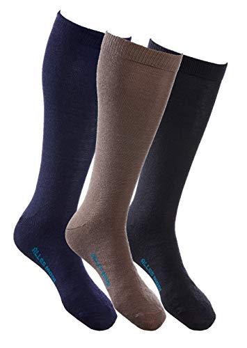ALLES MOOI Fine MOHAIR Dress Socks, 40prozent Mohair 40prozent Merino Wool, Perfekt for All Seasons, Formal and High Length, BLACK, UK 8-11 | EU 42-47, EXECUTIVE model