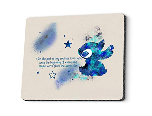 Gaming Mouse Pad Custom Design. Personalized Abstract Art Cartoon Rabbit Starry Theme Pattern Rectangle Mouse Pads for Computer, PC and Laptops. Customized Mousepad for Office and Home.