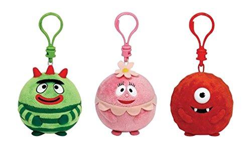 Yo Gabba Gabba TY Beanie Ballz Key Clip Set of 3 - Muno, Brobee & Foofa Soft Plush Keyring