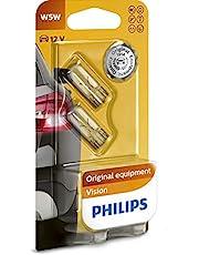 Philips 12961B2 Vision - Bombilla W5W para indicadores (2 unidades)