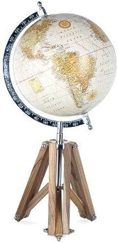 Art Deco Home - Globus auf Stativ, 20 cm - 10136SG