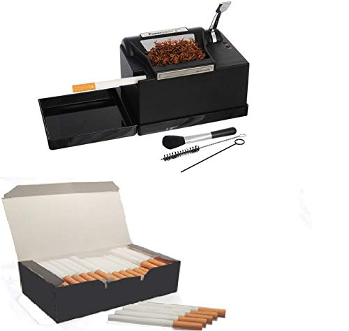 Powermatic 2 plus + 1000 Zigarettenhülsen zum Befüllen von Zigaretten zum Entdecken von Tabak-Düngermaschinen, zum Entdecken von elektrischen Zigaretten / E-Zigaretten