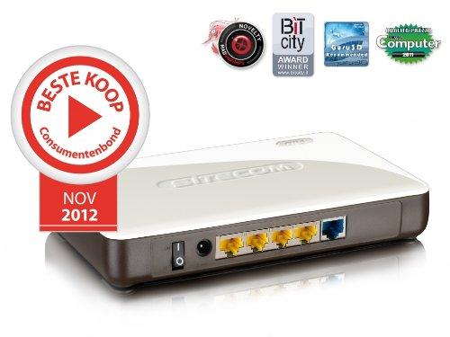 Sitecom WLR-4000 DSL WLAN Router Gigabit resistente 300 Mbit/s y 4 x conector LAN