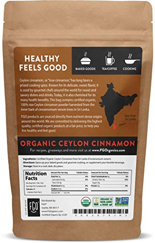 Product Image 2: Organic Ceylon Cinnamon Powder | Perfect for Baking, Cooking & Smoothies | 100% Raw from Sri Lanka | 16oz/453g Resealable Kraft Bag | by FGO