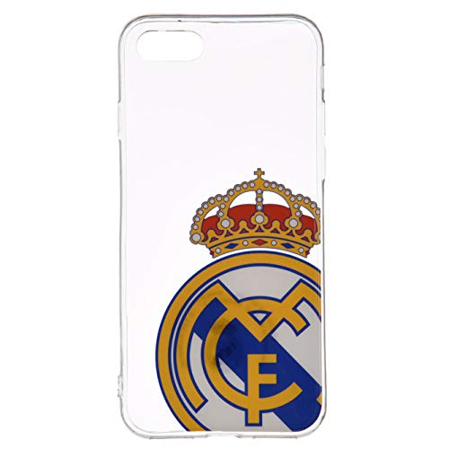 LA CASA DE LAS CARCASAS Funda Oficial del Real Madrid Escudo Transparente para iPhone 7 Plus - 8 Plus. Protege tu iPhone con los Colores y el Escudo del Real Madrid
