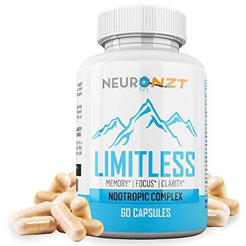 Limitless – NZT Nootropic Brain Booster Supplement – Enhance Focus, Boost Concentration & Improve Memory   Mind Enhancement with Amino Acids & DHA for Neuro Energy & IQ – 30 Day Supply - Made in USA