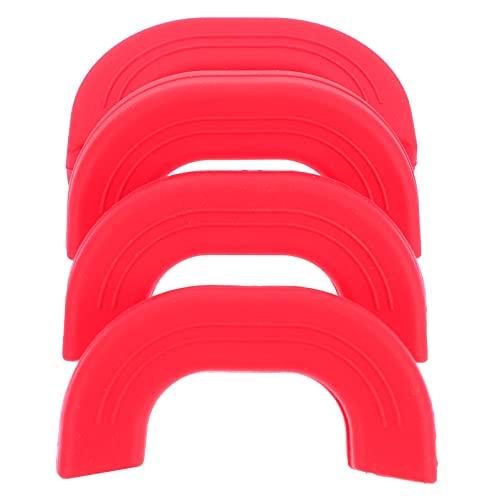 HEMOTON 4Pcs Silicone Anti- Scottatura Caldo Maniglia Protezioni in Silicone Resistente Calore Pot Holder Sleeve Cast Iron Skillet Handle Covers per Pentole Padelle