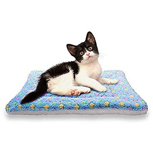 Kohza Alfombrilla para perros, impermeable, versátil, lavable, apta para el coche para perros pequeños y medianos (M, azul claro)