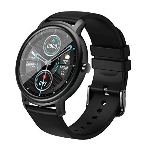 Gazechimp Reloj Inteligente para Teléfonos Compatible con IP68, Reloj Inteligente Resistente Al Agua para Nadar, Rastreador de Ejercicios, Reloj Deportivo, Relo - Negro