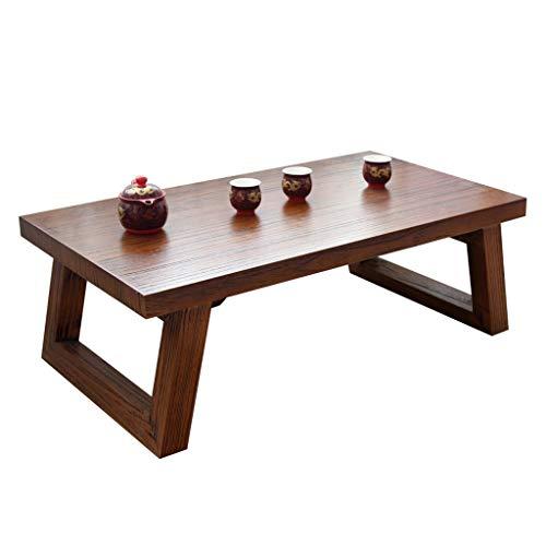 Tables De Piano Baie Vitrée Lit Petite Salon Basse Bureau Basse en Bois Massif Rétro Basses (Color : Brown, Size : 70 * 45 * 35cm)