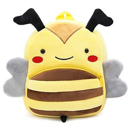 Nette Kleine Kleinkind Kinder Rucksack Plüsch Tier Cartoon Mini Kinder Tasche für Baby Mädchen Junge Alter 1-3 Jahre - Biene