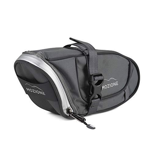 Mozione Fahrrad Satteltasche - Praktische Werkzeugtasche für Ihr Fahrrad [Wasserdicht] - Fahrradtasche Sattel ideal für Kleinutensilien & Fahrradzubehör - Radtasche für Mountainbike, Rennrad, Citybike