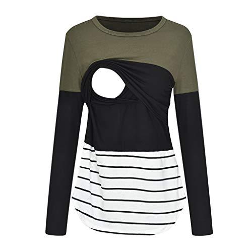 pitashe Nursing Top, Damen Still-Shirt Stillen Kleidung Schwangerschaft Still-top