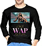 Cardi B WAP feat Megan Thee Stallion Mens Long Sleeve t Shirts Bláck (bF) T Shirt Tee T-Shirt Long Sleeve Sweatshirt Hoodie Customize