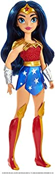 DC Super Hero Girls Wonder Woman Action Doll  Approx 11 inches  with Removable Accessories Wearing Iconic Outfit with True-to-Show Details Great Gift for 6 – 8 Year Olds Multicolor  GBY55