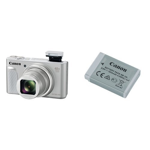 Canon PowerShot SX730 Digital Camera (Silver) and Canon Battery Bundle