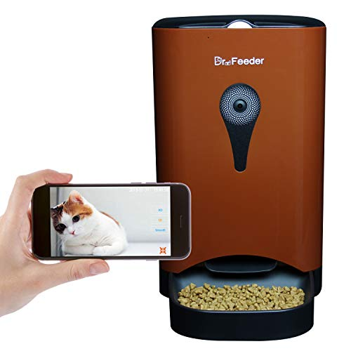 Dr. Feeder 4.5L Smart HD Camera Feeder for Video and Audio Communication, Automatic Pet Feeder for Cats and Dogs, APP Controlled Food Dispenser Through Wi-Fi, Coffee