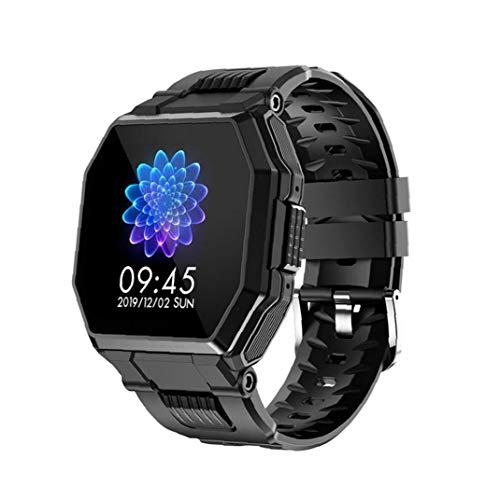 Presión Inteligente Venda de Reloj del Reloj del perseguidor de S9 Bluetooth Llamada Reloj de Pulsera táctil Completa Deportes rastreador de Ejercicios SmartWatch Sangre del Ritmo cardíaco Negro