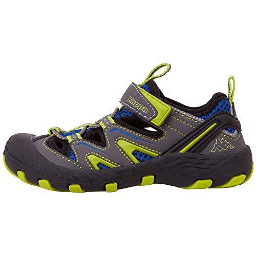 Kappa REMINDER T Outdoor-Schuhe für Teenager │ geschlossene Sandalen mit fester Sohle │ mit Klettverschluss und Schnürkordel │ Mix aus Sneaker & Sandale für Mädchen und Jungen │ in den Größen 36 - 43