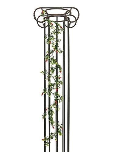 artplants.de Künstliche Chiligirlande Jacinta, rot Chilischoten, grün, 180cm - Kunst Girlande - Chili Ranke
