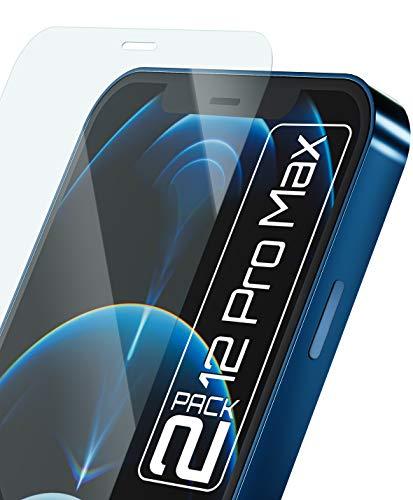 Móvil Nation [2 Pack] Cristal protector de pantalla completa sin marco para iPhone 12 Pro Max (6,7 pulgadas) con plantilla Asahi Glass 9H protección contra arañazos